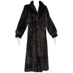 Pristine Blackglama Brown-Black Mink Greatcoat, 2006