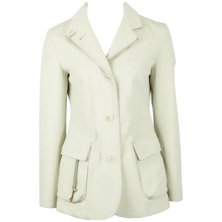 Loro Piana Tan Cotton Jacket - 38 For Sale
