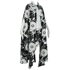 Woodstock Printed Cape / Maxi Skirt and Halter Ensemble, 1960s