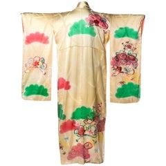 Pastel Embroidered Japanese Kimono