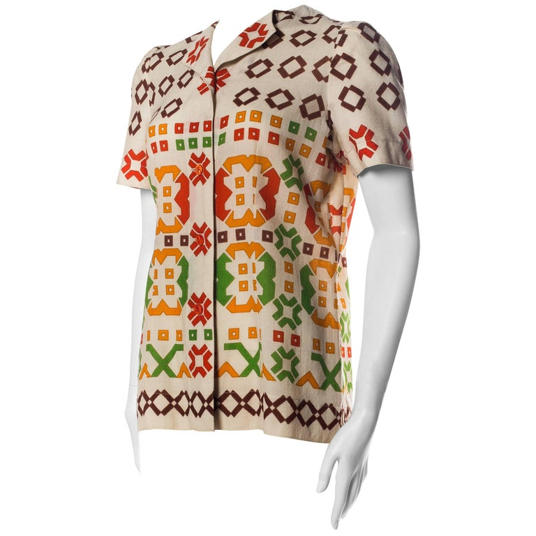 1960s Lanvin Couture Blouse
