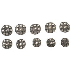 Chanel Buttons - Matching Set of 10 - Gripoix Inlay