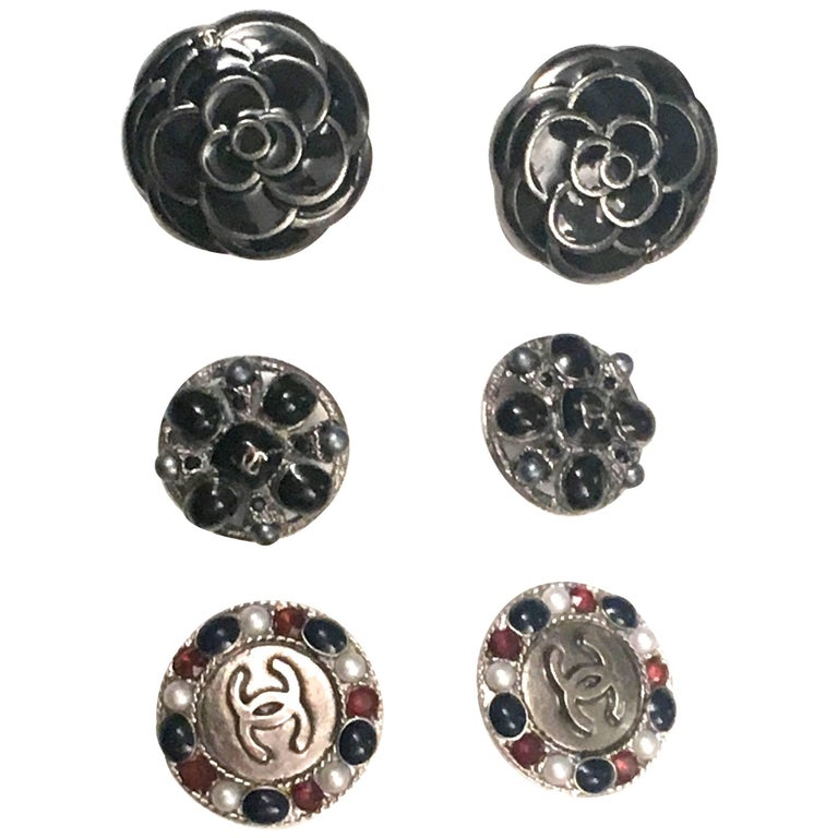 Chanel Buttons - Assortment of 6 - Gripoix - Enamel