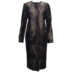 J.Mendel Grey- Brown Broadtail Coat Sz M