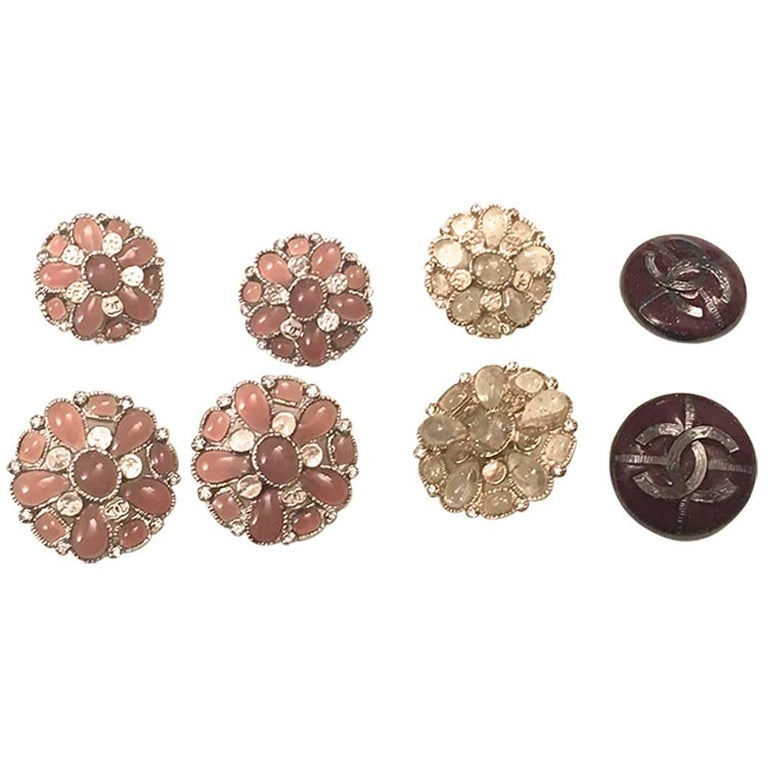 Chanel Buttons - Set of 8 Assorted Buttons