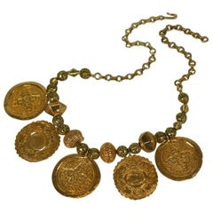 Kenneth Jay Lane Ancient Medallion Necklace