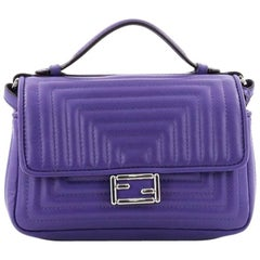 Fendi Double Baguette Quilted Leather Micro