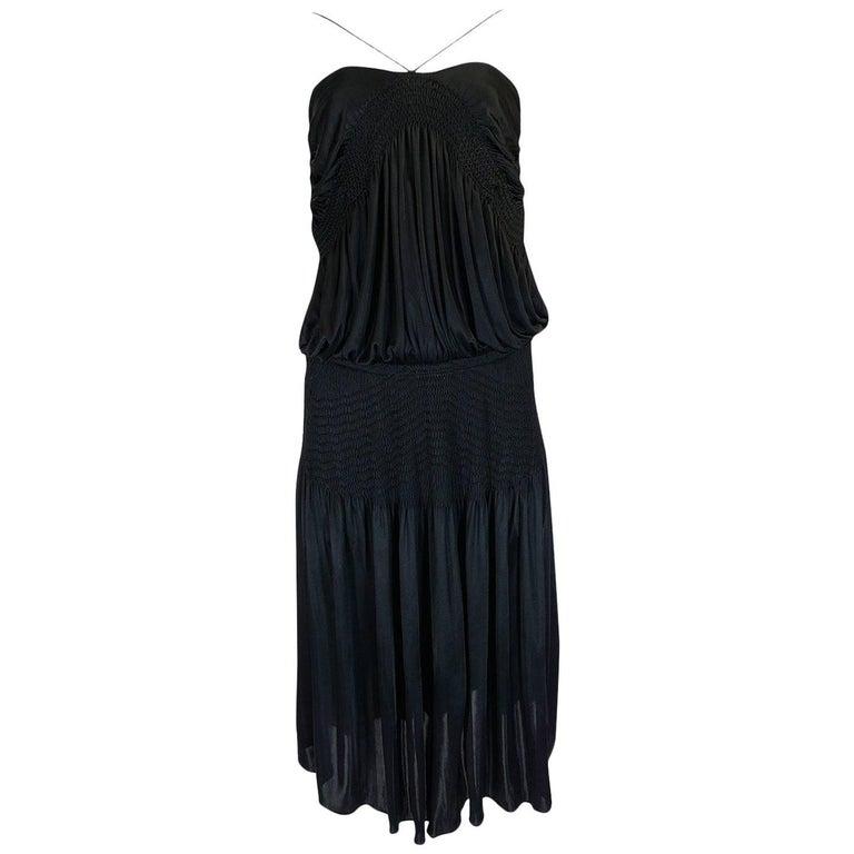 Look 42 S/S 2004 Chloe By Phoebe Philo Black Runway Dress For Sale