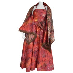 Christian Lacroix Brocade Ball Gown and Shawl