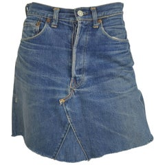 Levis 1950's 501 Hidden Rivet Indigo Denim Mini Skirt