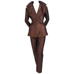 1990's ISSEY MIYAKE draped suit