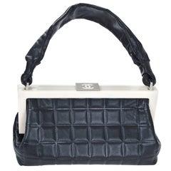 CHANEL Black & Creme Chocolate Bar Frame Bag