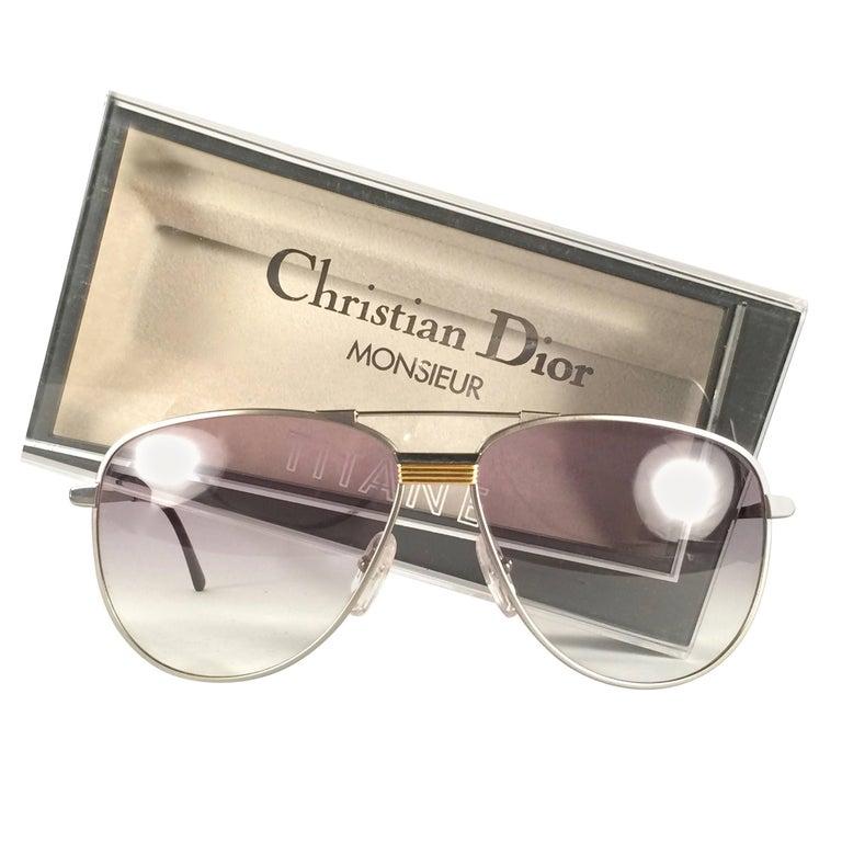 New Vintage Christian Dior Monsieur Titanium Optyl Germany Sunglasses