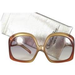 New Vintage Christian Dior 2005 Matte Light Amber Oversized Optyl Sunglasses