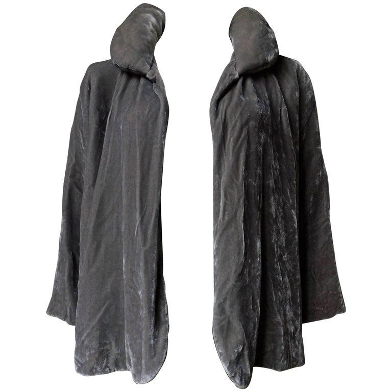 Isabel Marant Gray Silk Velvet Jacket with Padded Collar