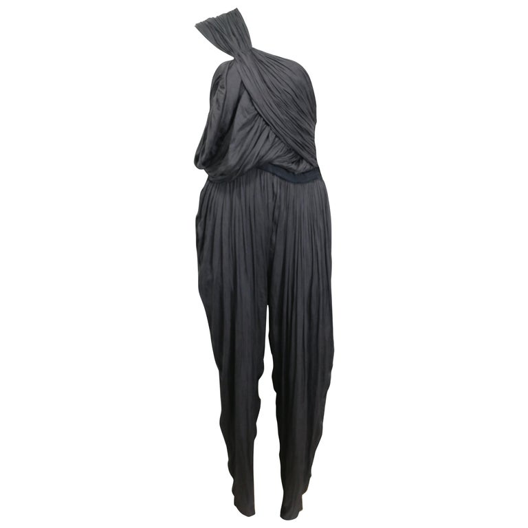 Lanvin Black Silk Jumpsuit For Sale