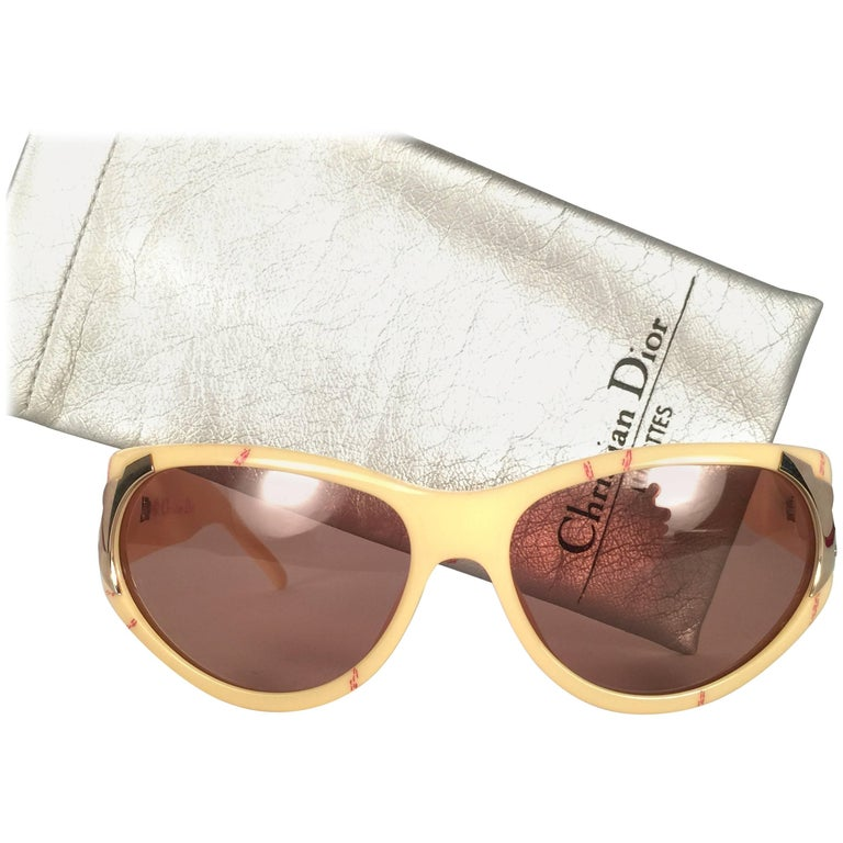 New Vintage Christian Dior 2346 Optyl 1980's Sunglasses Germany For Sale