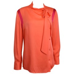Ports Orange Silk Button Shirt
