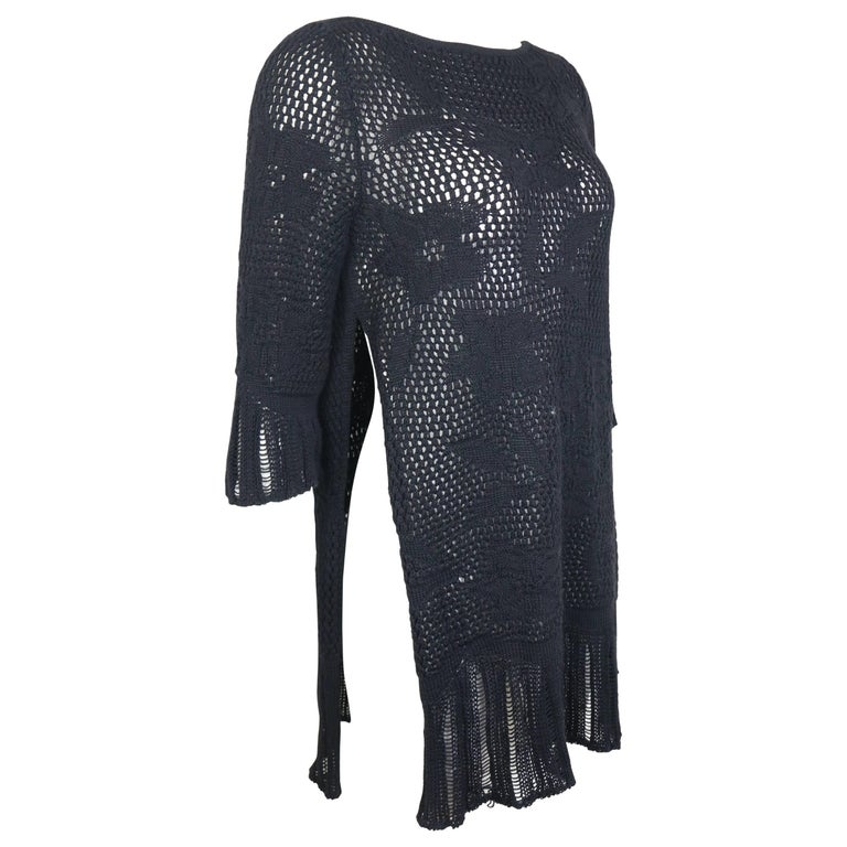 Gianni Versace Black Knitted Wool Side Silt Sweater