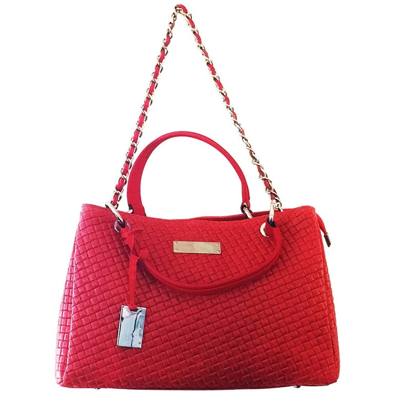 Trussardi Red Leather handbag or shoulder bag