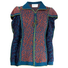 Anne Fewlass wool and cotton chenille jacket, circa 1983