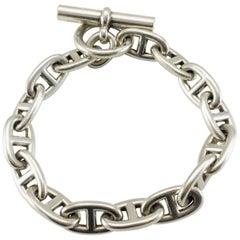 Hermes TGM Chaîne d'Ancre Silver Bracelet