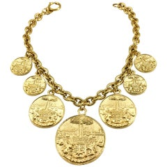 1980's Chanel Medallion Choker Necklace