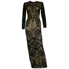 Balmain maxi lace dress