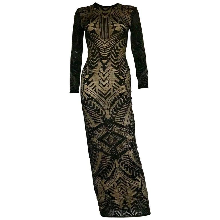 Balmain maxi lace dress