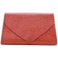 LOUIS VUITTON Vintage Clutch in Tawny Epi Leather