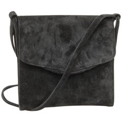 HERMES Vintage Clutch in Black Suede