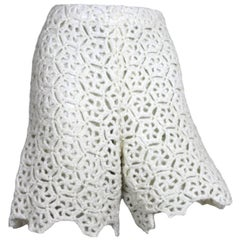 Comme des Garcons White Drama Crochet Shorts, 2011 Collection
