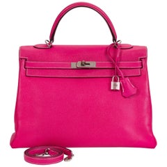 Hermes Rose Tyrien/Tosca Limited Edition Candy Kelly 35 Bag