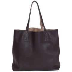 Hermes Double Sens Reversible Etoupe and Brown Tote Bag