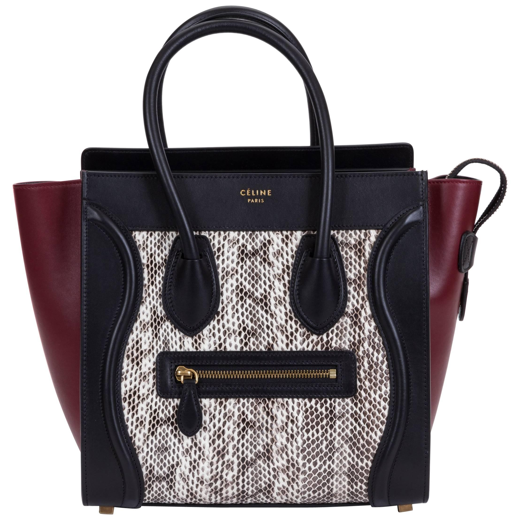 Celine Limited Edition Water Snake Micro Luggage Bag