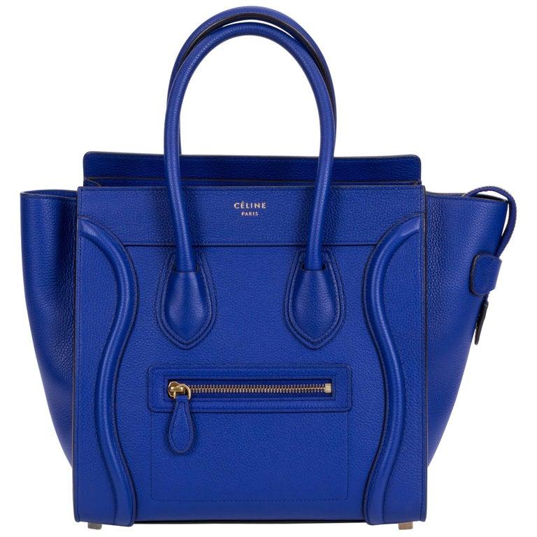 New Celine Indigo Micro Luggage Bag