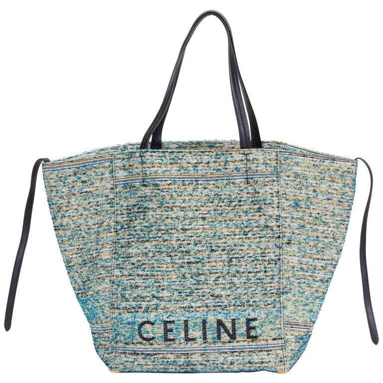 New Celine Boucle Fabric Blue Phantom Bag