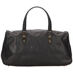 Black Chanel Caviar Leather Handbag