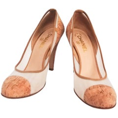 Chanel Cork Two Tone Pumps