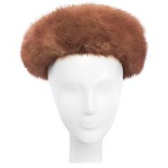 1960s Taupe Mink Fur Hat