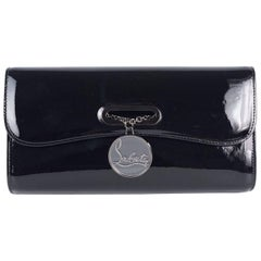 Christian Louboutin Women's Black Patent Leather Rivera Clutch Bag