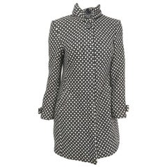 Black and White Houndstooth Mod Coat, 1960s