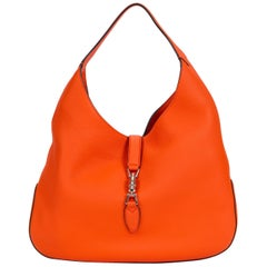 New Gucci Jackie Vibrant Orange Hobo Bag