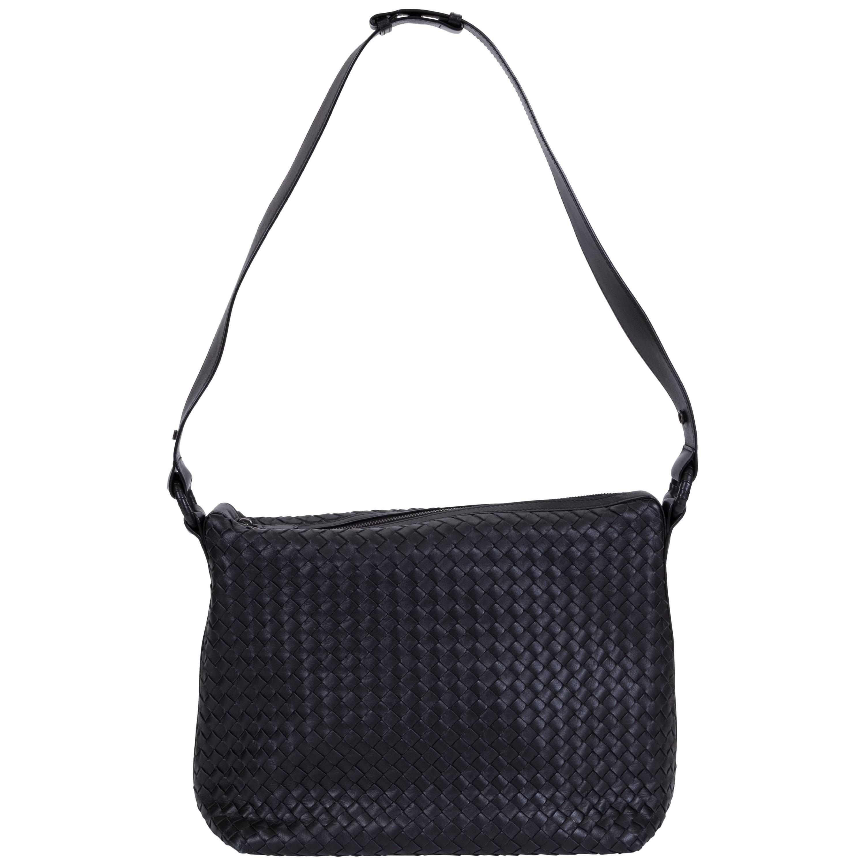 New Bottega Veneta Black Woven Intrecciato Handbag