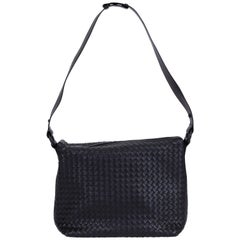 New Bottega Veneta Black Woven Intrecciato Handbag
