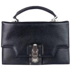 Roberto Cavalli Women's Black Leather Mini Queen Satchel Handbag