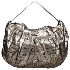Silver Chanel Unlimited Nylon Shoulder Bag