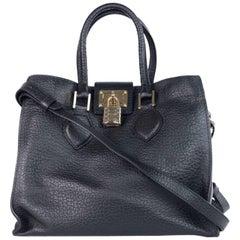 Roberto Cavalli Womens Black Leather Medium Florence Bag