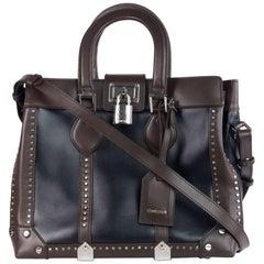 Roberto Cavalli Womens Black/Brown Leather Medium Florence Bag