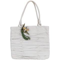 1990's Prada Vintage White Lambskin Handbag